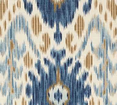 Fabric By the Yard - Ikat Geo Blue - Pottery Barn