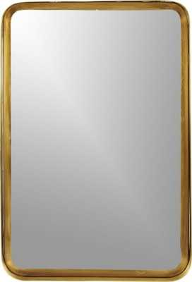 "Croft brass 16""x24.5"" mirror - CB2"