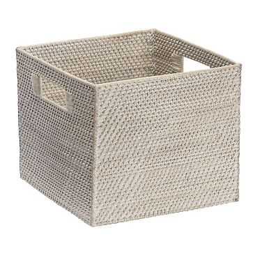 Whitewash Modern Weave Collection, Storage Bin - West Elm