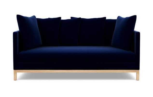 Jasper Sofa with Oxford Blue Fabric and Natural Oak legs - Interior Define