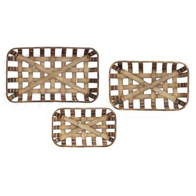 Tobacco Baskets (Set of 3), Brown - Home Depot