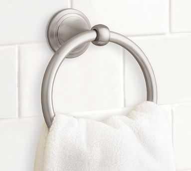 Mercer Towel Ring, Satin Nickel finish - Pottery Barn
