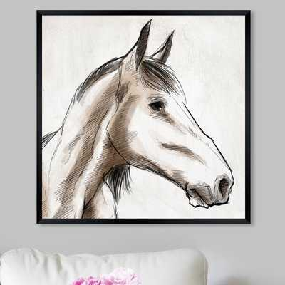 'Horse Sketch I' Framed Graphic Art Print - Wayfair