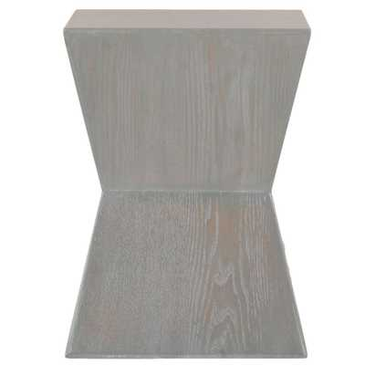 Lotem French Grey End Table, French Gray - Home Depot