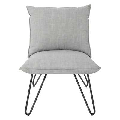 Riverdale Dove Chair with Metal Black Legs - Home Depot