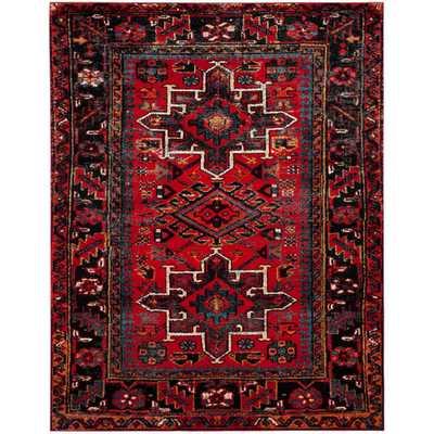 Vintage Hamadan Red/Multi 8 ft. x 10 ft. Area Rug - Home Depot