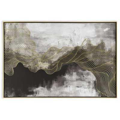 'Golden Path' Framed Print on Canvas - Wayfair