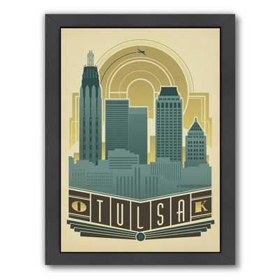 Tulsa Deco Skyline Framed Vintage Advertisement - Wayfair