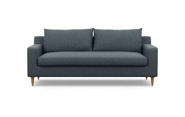 Sloan Sofa with Rain Fabric, Natural Oak legs, and Bench Cushion - Interior Define