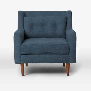 Crosby Armchair, Linen Weave, Regal Blue - West Elm