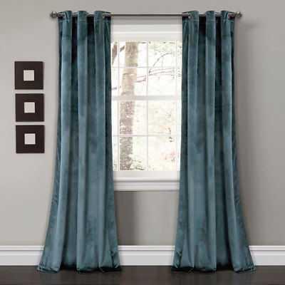 Lush Decor Prima Velvet Blue 84 x 38 In. Solid Room Darkening Window Curtain Set - eBay