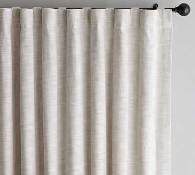 "Seaton Textured Drape, 50 x 108"", Neutral - Cotton Lining - Pottery Barn"