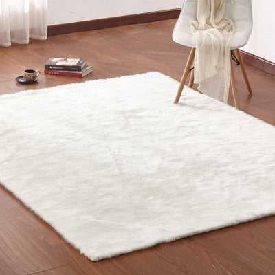 Christerfer Faux Fur White Area Rug - Wayfair