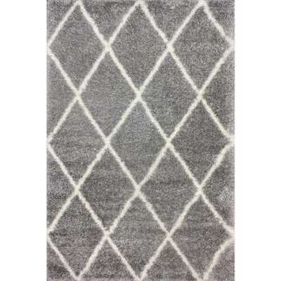 Diamond Shag Ash (Grey) 8 ft. x 10 ft. Area Rug - Home Depot