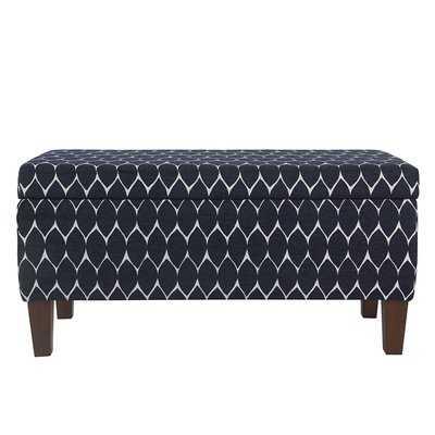 Highland Textured Upholstered Storage Bench - Wayfair