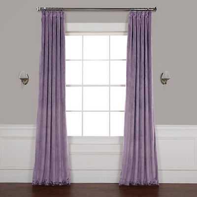 Rose Street Lilac Purple 96 x 50 In. Plush Velvet Curtain Single Panel - eBay