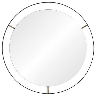 Jericho 30.5 in. x 30.5 in. Framed Wall Mirror - Home Depot