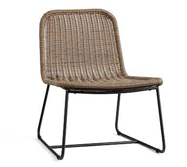 Plymouth Accent Chair, Woven/Metal - Pottery Barn