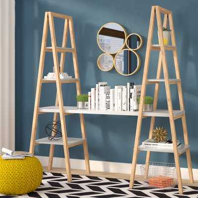Degeorge Triangle Desk Ladder Bookcase - Wayfair