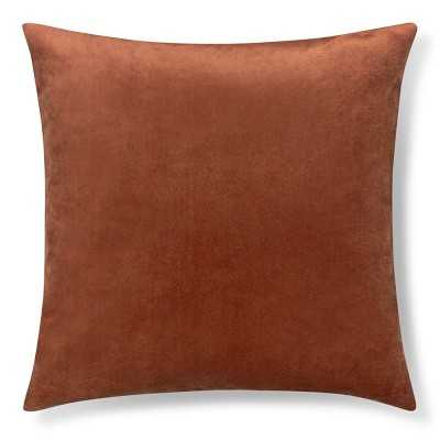 """Velvet Pillow Cover, 22"""" X 22"""", Shrimp - Williams Sonoma"""