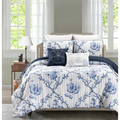Cape Anne 5-Piece Reversible Full/Queen Comforter Set, Multi - Home Depot