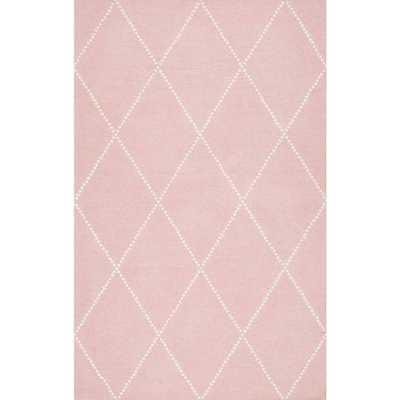 Elvia Baby Pink 5 ft. x 8 ft. Area Rug - Home Depot