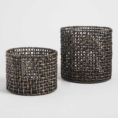 Black Hyacinth Amber Baskets - Small by World Market Small - World Market/Cost Plus