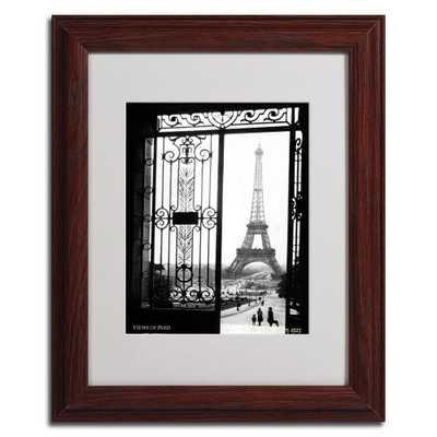 11 in. x 14 in. Views of Paris Dark Wooden Framed Matted Art, Dark Brown - Home Depot