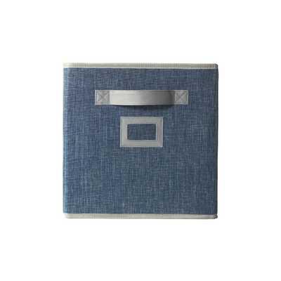 11 in. Fabric Glimmer Storage Bin in Indigo (Blue) - Home Depot