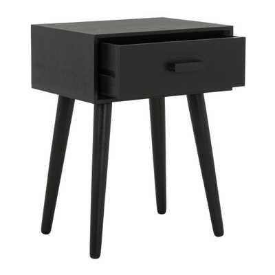 Lyle Black Storage Side Table - Home Depot