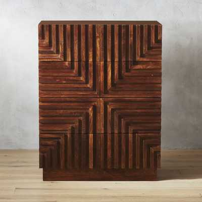 Maze Wood Tall Chest - CB2