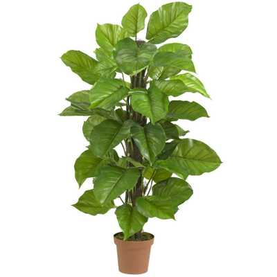 Real Touch 52 in. H Green Large Leaf Philodendron Silk Plant - Home Depot