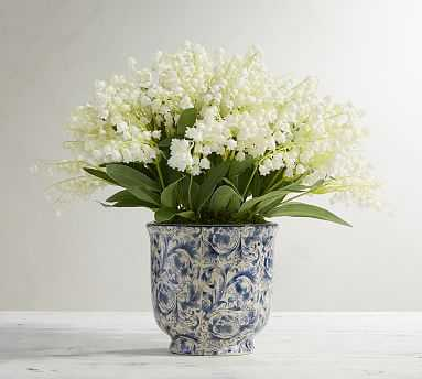 Faux Lily of the Valley in Pot - Pottery Barn