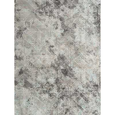 Camilla Parquet Aqua (Blue) 9 ft. 6 in. x 13 ft. 9 in. Rectangle Area Rug - Home Depot