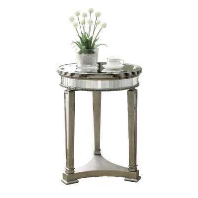 Monarch Specialties I 3705 20 Inch Diameter Mirror Top MDF Accent Table - eBay