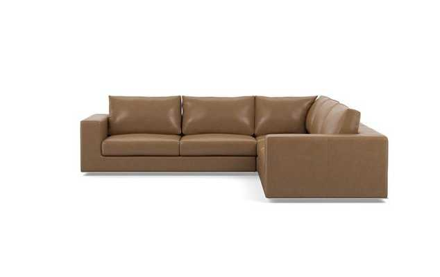 Walters Leather Corner Sectionals with Palomino - Interior Define