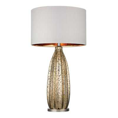Titan Lighting Pennistone 31 in. Polished Nickel Antique Gold Mercury Table Lamp - Home Depot