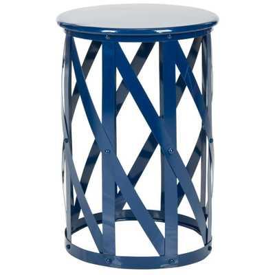 Bertram Navy (Blue) End Table - Home Depot