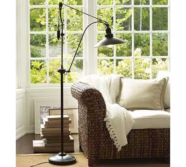 Glendale Pulley Task Floor Lamp, Bronze Finish - Pottery Barn