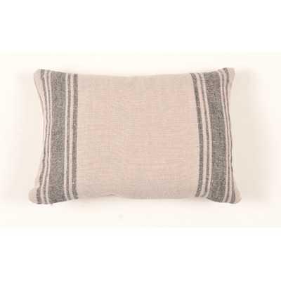 Farmhouse Grainsack Linen Lumbar Pillow - Wayfair