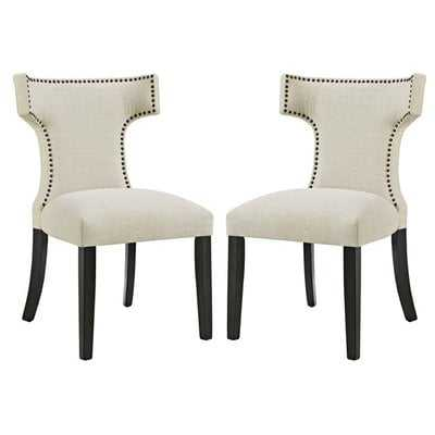Curve Upholstered Dining Chair - Set of 2 - Wayfair
