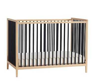 Knox Convertible Crib, Natual/Black, UPS - Pottery Barn Kids