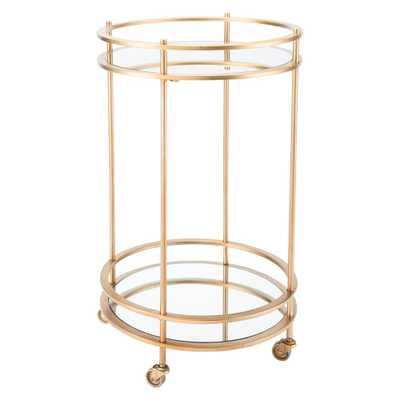 Round Gold Bar Cart - Home Depot