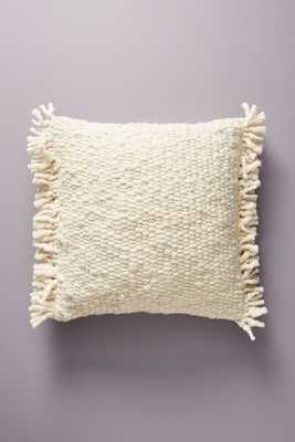 Fringed Knit Pillow - Anthropologie
