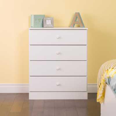 Astrid 4-Drawer White Chest - Home Depot