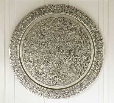 "Decorative Metal Disc, 38"", Silver - Pottery Barn"