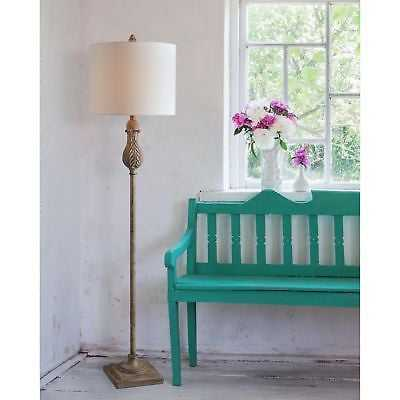 "Frances 61.5"" Weathered Wood Floor Lamp - eBay"