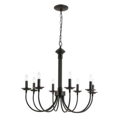 Bel Air Lighting Stewart 8-Light Black Incandescent Ceiling Chandelier - Home Depot