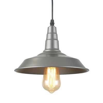 LNC 1-Light Silver Farmhouse Ceiling Barn Pendant - Home Depot