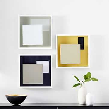 Color Block Gallery Art, Set of 3 - West Elm